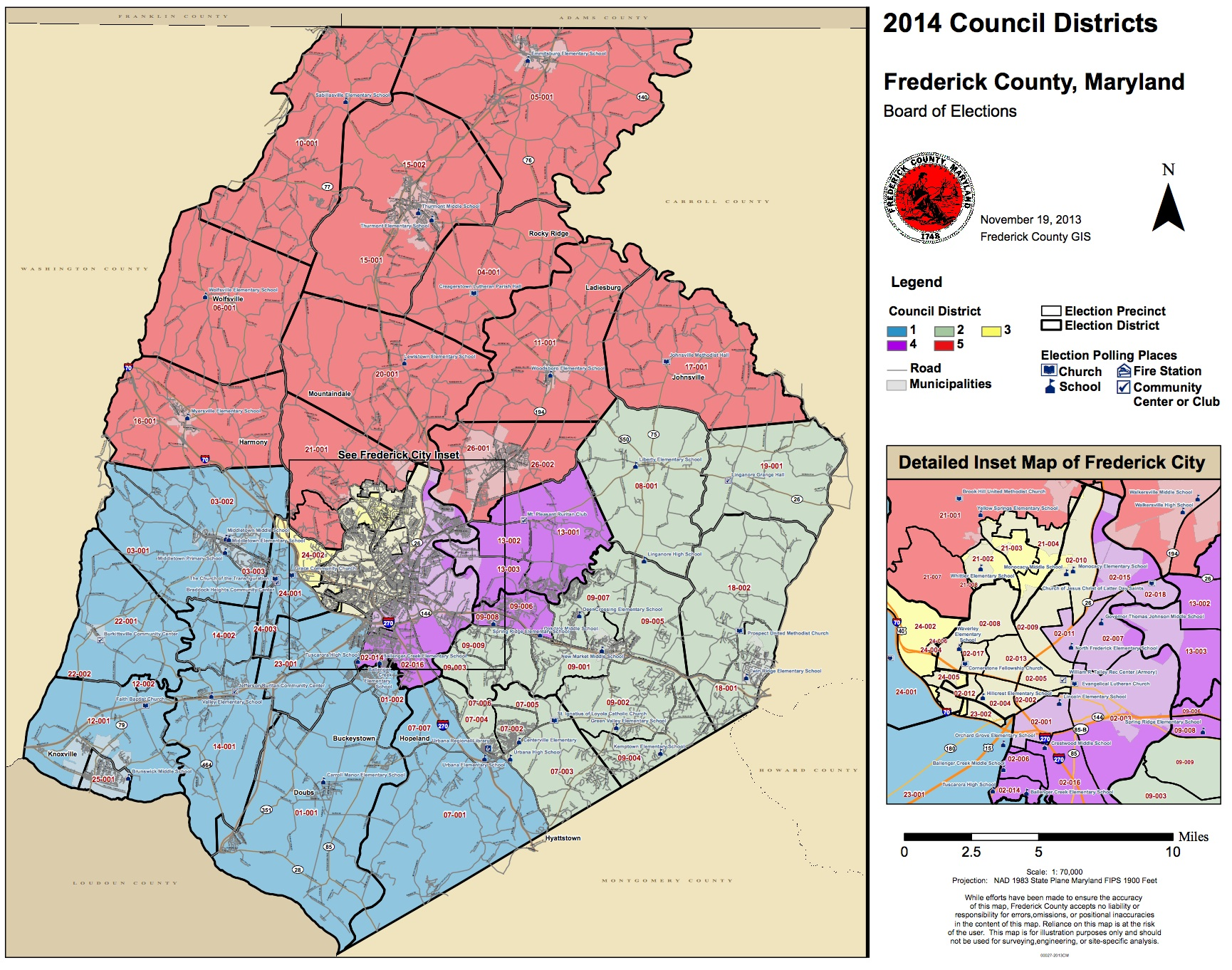 County Council District Maps | Seventh State