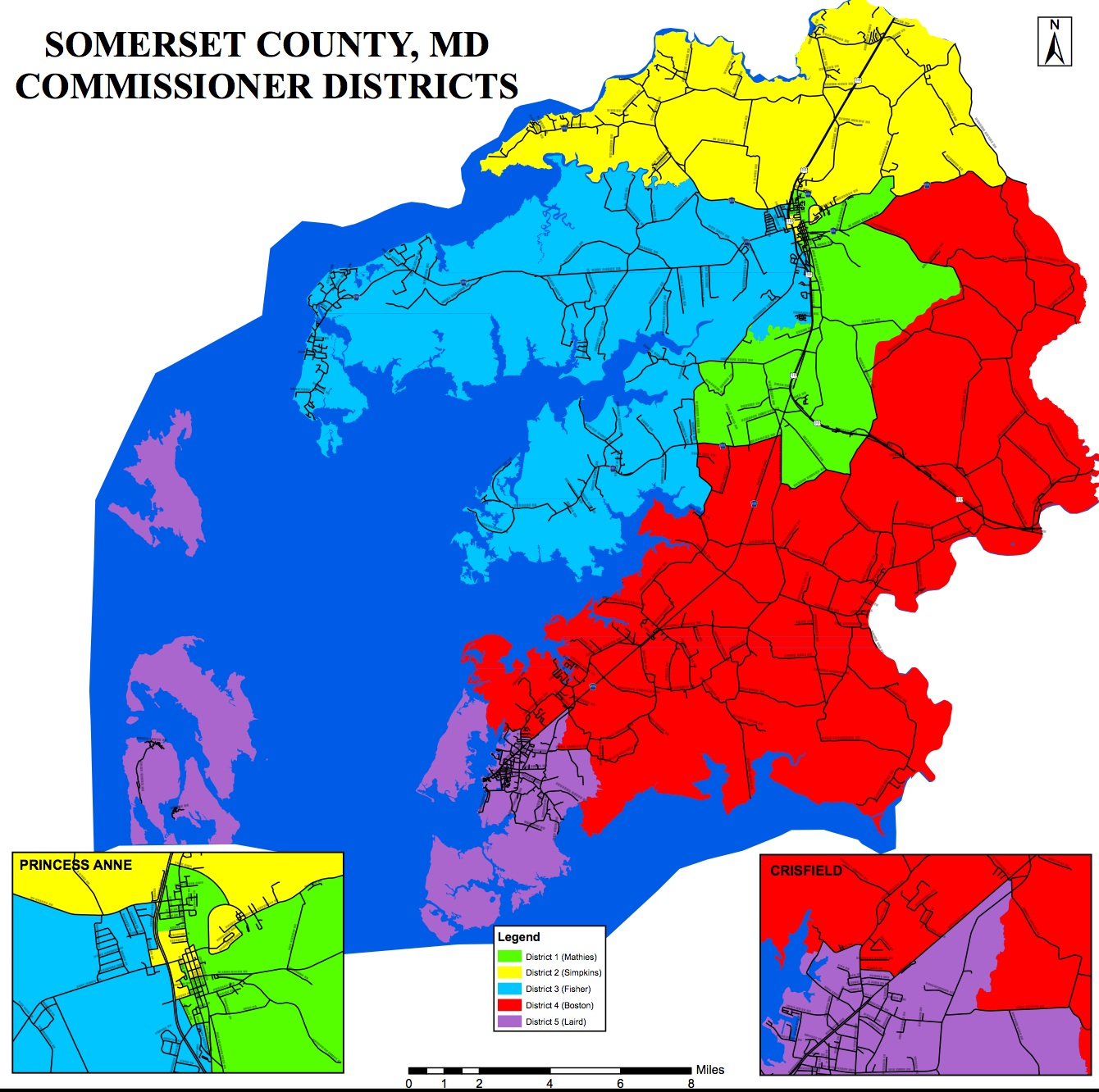 County Council District Maps Seventh State